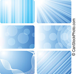 Card background. - Six backdrops for card. Vector...