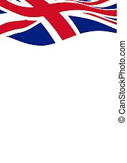Card background with flag of United Kingdom