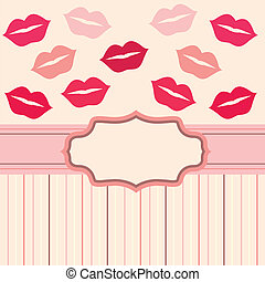 card background with lips