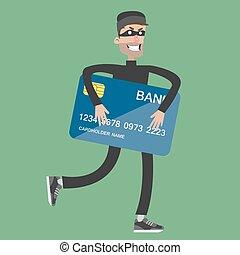 card., banco, robar