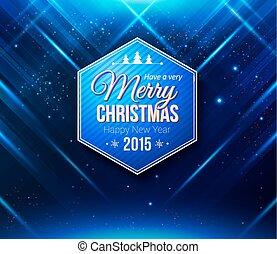 card., blauwe , abstract, gestreepte achtergrond, kerstmislicht, effe