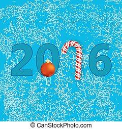 card., bleu, hiver, noël, arrière-plan., flocons neige