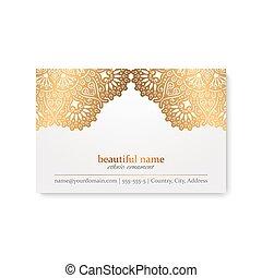 card., business, éléments décoratifs, vendange