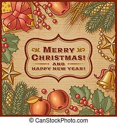 card christmas, retro