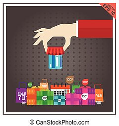 card credit ATM vector illustration shopping sale