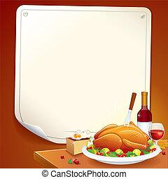 card., dankzegging, illustratie, vector, dag, vrolijke