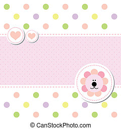 card design baby arrival announcement card