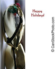 Card design for Christmas with jingle bells
