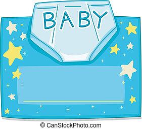 Card Design Diaper - Card Design Featuring a Baby Diaper