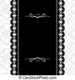Card design vintage ornate frame on seamless background