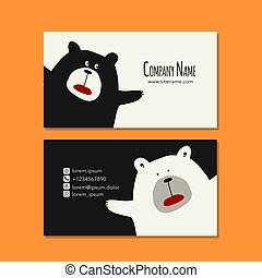 Card design with funny bear