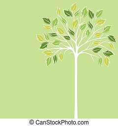 Card design with stylized trees
