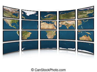Card earth on screens of monitors