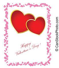 card., eenvoudig, tekst, dag, groenteblik, valentine\'s, u,...