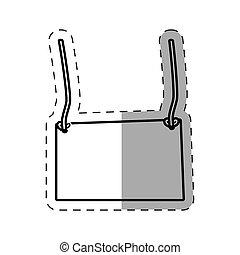 card empty hanging cut line vector illustration eps 10