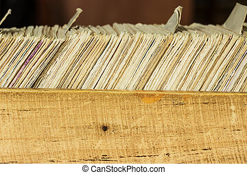 Card file box in the archive