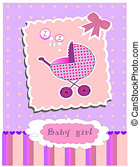 card for baby girl vector