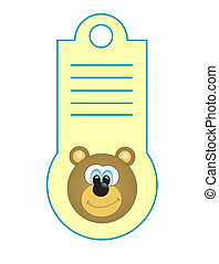 card for baby. vector illustration