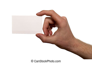 Card for business purposes - There is a white card holding...