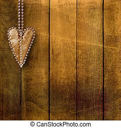 Card for congratulation or invitation with retro hearts