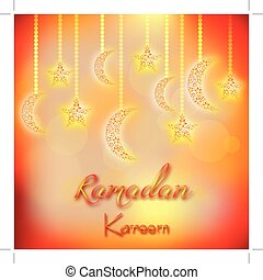Card for fasting month of Ramadan