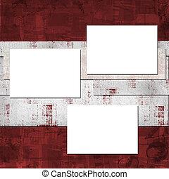 Card for invitation or congratulation in scrapbooking style design