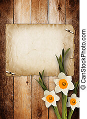 Card for invitation or congratulation with bouquet of...
