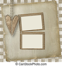 Card for invitation or congratulation with heart