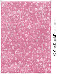 Card for invitation or congratulation with orchids ornamental pattern