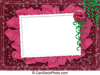 Card for the invitation with a beautiful flower