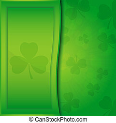 Card for the St. Patrick's Day