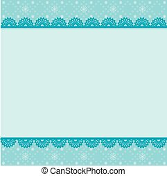 Card for the winter holidays with snowy snowflakes and place...