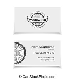 Card for woodwork master. Wood work and manufacture card for...