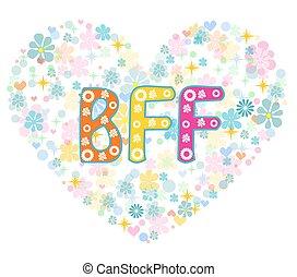 card., forever., powitanie, bff., przyjaciele, najlepszy