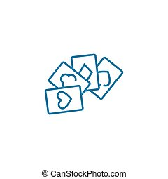 Card games linear icon concept. Card games line vector sign, symbol, illustration.