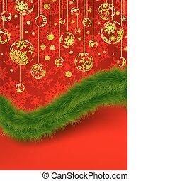card., groet, eps, 8, kerstmis, rood