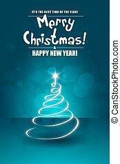 card., groet, kerstmis