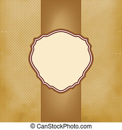 Card grunge background with dark coffee colored warm brown stripes and copy space. EPS 8 vector file included