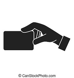 card hand side icon vector graphic