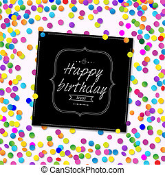 Card Happy Birthday With Confetti