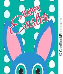 Ears and eyes peek-a-boo bunny