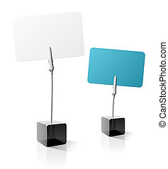 Vector illustration of a business card holder. Detailed portrayal.