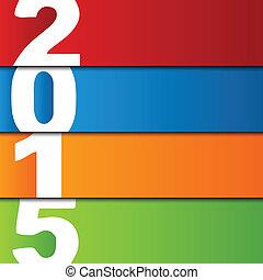 card., illustration, vecteur, année, 2015, nouveau, heureux