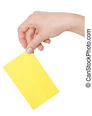 card in a paper