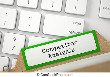 Card Index with Competitor Analysis. 3d.