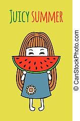 Card juicy summer