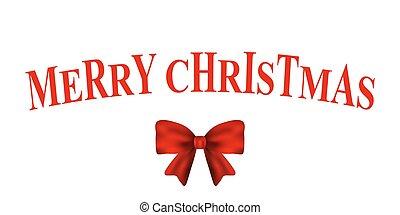 card, jul, rød bov