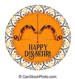 card, konstruktion, dussehra, ornamental, glade, festival,...