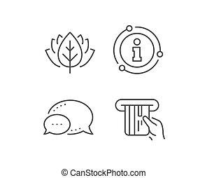 card., kredit, vektor, icon., linie, halten, zahlung, karte