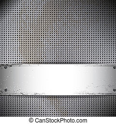 card., metall, cell, bakgrund., vektor, runda